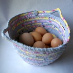 Fabric Coiled Basket #0023 at 1840 Farm