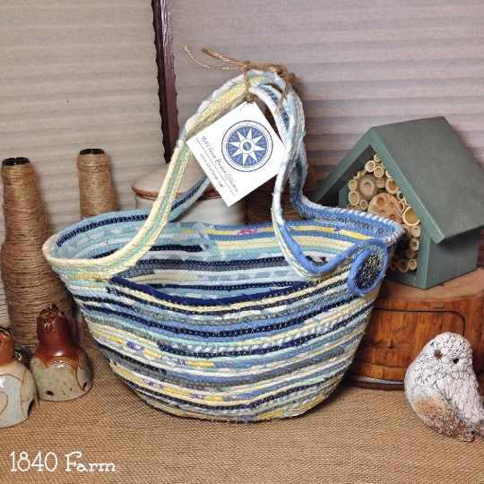 Market Tote Basket at 1840 Farm