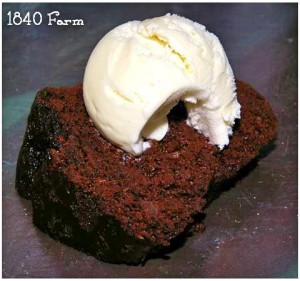Chocolae Zucchini Cake at 1840 Farm