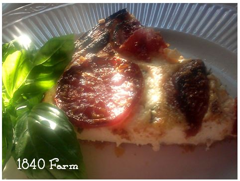 Tomato Ricotta Tart at 1840 Farm