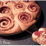 Cast Iron Skillet Cinnamon Rolls with Bourbon Caramel Sauce from 1840 Farm
