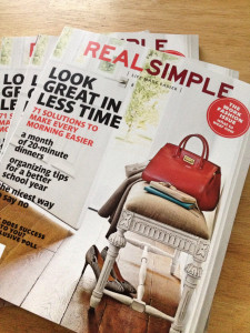 September 2014 Issue of Real Simple Magazine