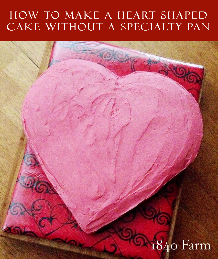 How to Make a Heart Shaped Cake Branded