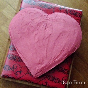 A Heart Shaped Cake at 1840 Farm