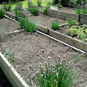 Empty Garden Bed at 1840 Farm