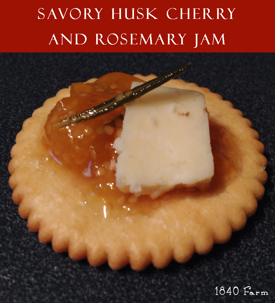 Savory Husk Cherry and Rosemary Jam Branded