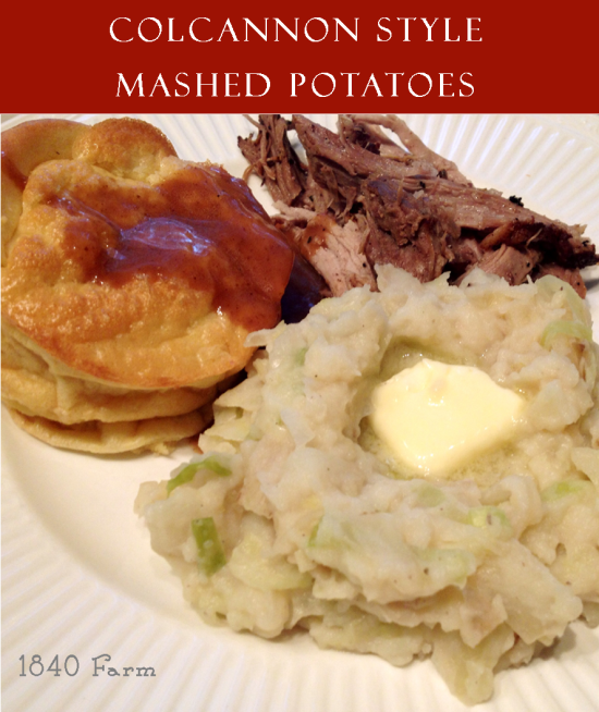 Colcannon Style Mashed Potatoes at 1840 Farm