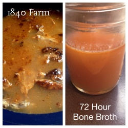 Bone Broth after 72 Hours at 1840 Farm