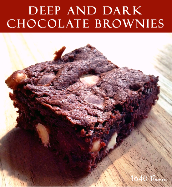 Deep and Dark Chocolate Brownies Branded