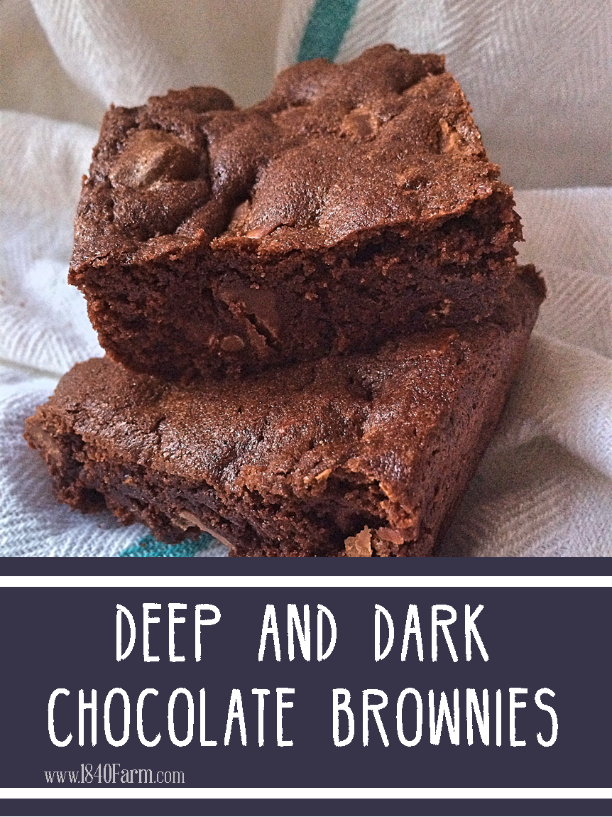 Deep and Dark Chocolate Brownies sm
