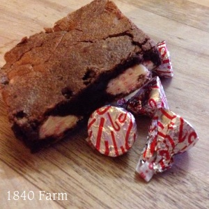 Candy Cane Brownies at 1840 Farm