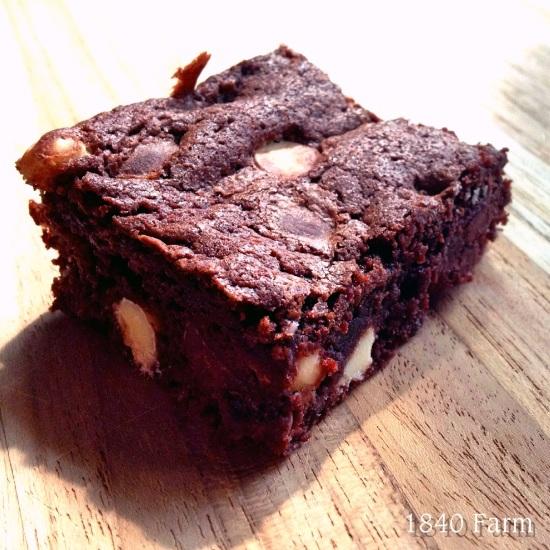 Dark Chocolate Brownies at 1840 Farm