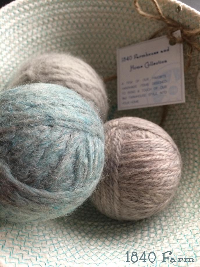 Wool Dryer Balls at 1840 Farm
