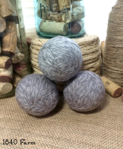 Wool Dryer Ball Heather Grey Set