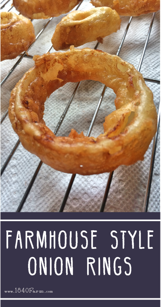 Farmhouse Style Onion Rings at 1840 Farm