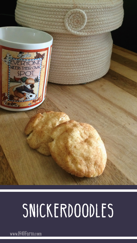 Snickerdoodle Cookies at 1840 Farm